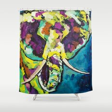 Elmer the Elephant Shower Curtain