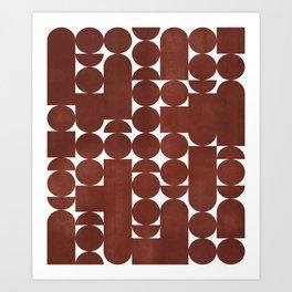 Retro Graphic Print, Geometric Pattern Art Print