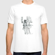 Brush Pen Fashion Illustration - Friends Mens Fitted Tee White MEDIUM