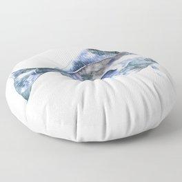 Flat Fish Watercolor Floor Pillow