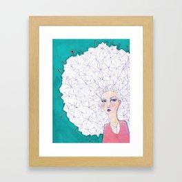 Puffball by Jane Davenport Framed Art Print