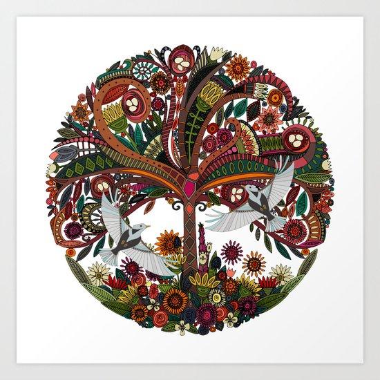 tree of life white Art Print
