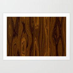 Wood Brown Art Print
