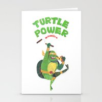 ninja turtle Stationery Cards featuring Ninja Turtles Turtle Power by MrMaars