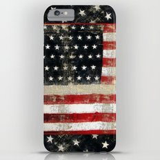 USA Flag ~ American Flag ~ Distressed Pattern ~ Ginkelmier Inspired Slim Case iPhone 6 Plus