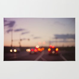 highway at dusk Rug