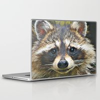racoon Laptop & iPad Skins featuring Little Racoon by Gene S Morgan