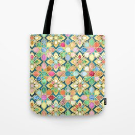 Gilded Moroccan Mosaic Tiles Tote Bag