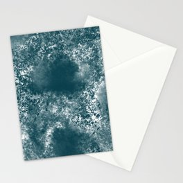 Teal Abstract Stationery Cards