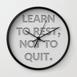 The Secret to Success I Wall Clock
