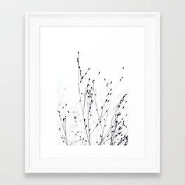 BLACK GRASS Framed Art Print
