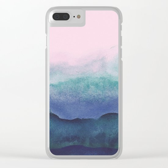 Pastel watercolor gradient (everyday 2/365) Clear iPhone Case