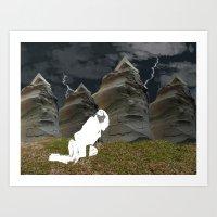 plain Art Prints featuring Vacant Plain by BriS