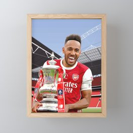 Pierre-Emerick Aubameyang Digital Illustration  Framed Mini Art Print