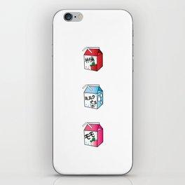 Kawaii Drink Cartons iPhone Skin