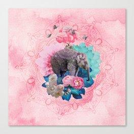 FLORAL ELEPHANT Canvas Print