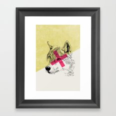 Techno Wolf Framed Art Print