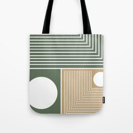 Stylish Geometric Abstract Tote Bag