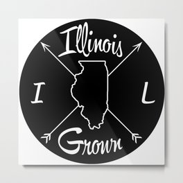 Illinois Grown IL Metal Print