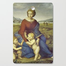 Madonna of the Meadows by Raphael Cutting Board