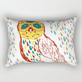 Sugar Skull Owl Rectangular Pillow