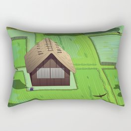 Rice paddy field Rectangular Pillow