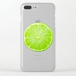 LOVE LIME Clear iPhone Case