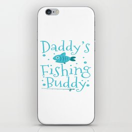 Fishing Angling Fisher Children Father Buddy Gift iPhone Skin