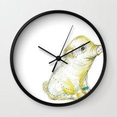 Pig Illustration Wall Clock