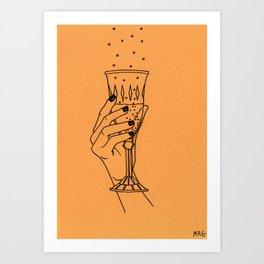 Winter Toast Art Print