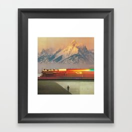 Running On Empty Framed Art Print