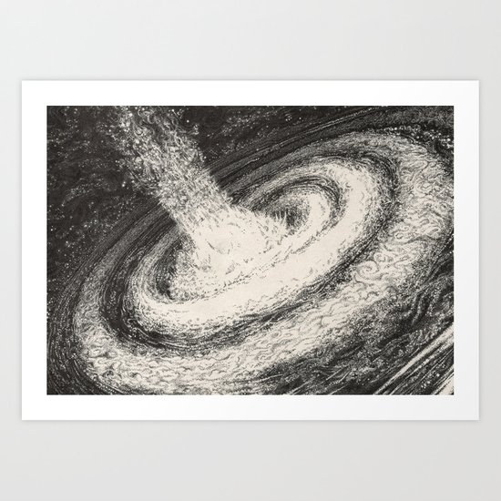 Galaxy Particles Infinite Art Print