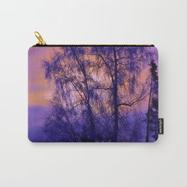 Hoarfrost Tree Sunset Carry-All Pouch