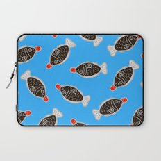 Sushi Soy Fish Pattern in Blue Laptop Sleeve