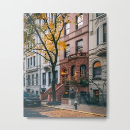UES Brownstones Metal Print
