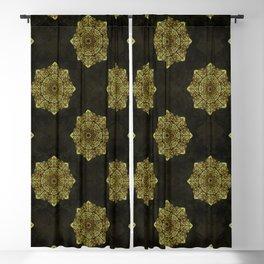 Golden Flower Mandala G346 Blackout Curtain