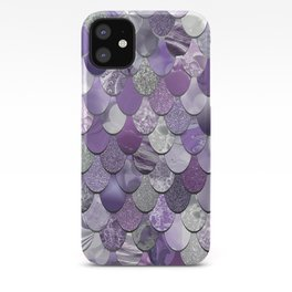Mermaid Purple and Silver iPhone Case