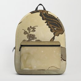 Beautiful elegant butterflies with heart Backpack