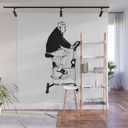 Exercise Bike Grandpa Wall Mural