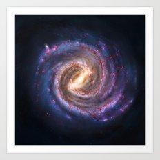 Galaxy Spin Art Print