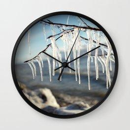 Frost Fingers Wall Clock