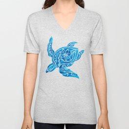 Vintage Hawaiian Tribal Turtle Unisex V-Neck