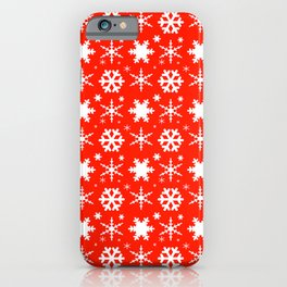 Snowflakes Red iPhone Case