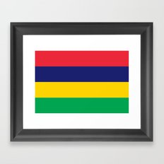 Flag of Mauritius Framed Art Print