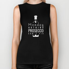 Funny Monday Nothing Prosecco Can't Fix  Biker Tank