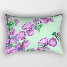 Double Almond Blossoms Rectangular Pillow