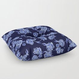 Porcelain Floral Floor Pillow
