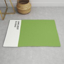 Lime Zest Pantone Chip •Green • Summer • Margarita • Foodie • Kitchen • Simple Print • Bold Color Rug