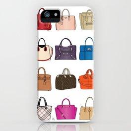 Designer Handbags fashion illustration iPhone Case