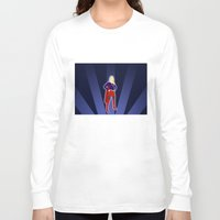 supergirl Long Sleeve T-shirts featuring Supergirl by livinginamovie